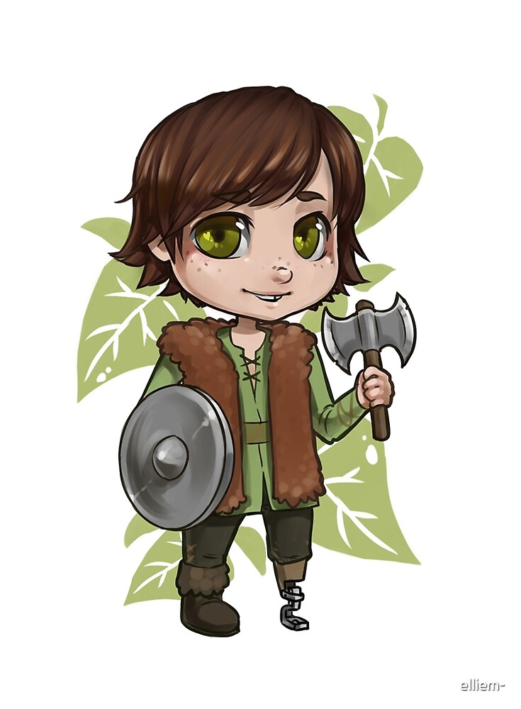 Chibi Hiccup  by elliem-
