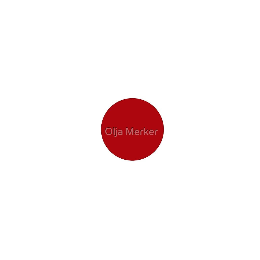 red circle on a white background by Olja Merker