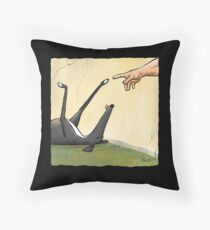 The Hand of Dog Throw Pillow