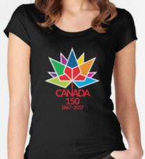 Canada Day Celebrating 150 Years Women's Fitted Scoop T-Shirt