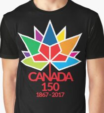 Canada Day Celebrating 150 Years Graphic T-Shirt