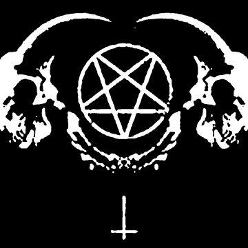 Satanic Goat Skulls by ChatNoir01