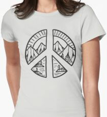Peace Sign and Mountain Design T-Shirt
