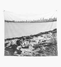 West Coast: Vancouver Skyline on a Grey Day Wall Tapestry