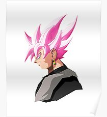 Goku Black Rose - Pop Head Art Poster