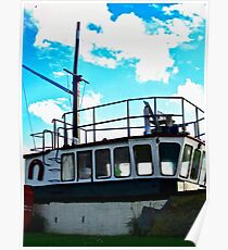 Old boat at Corcreggan's Mill, Donegal, Ireland Poster