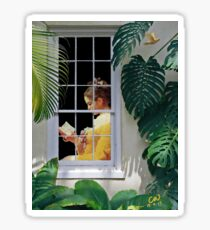 Fragonard Girl Reading Sticker