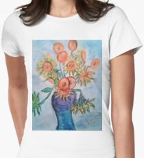 Sunflowers at the Front Womens Fitted T-Shirt