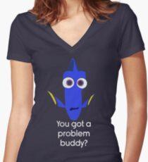 Dory! Women's Fitted V-Neck T-Shirt