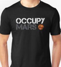 Occupy Mars White Unisex T-Shirt