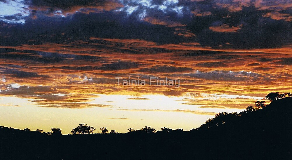 Outback Sunset by Tainia Finlay