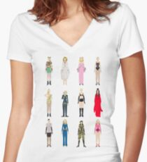 Outfits of Madge Fashion Women's Fitted V-Neck T-Shirt