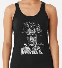 Beethoven Signature Illustration Women's Tank Top