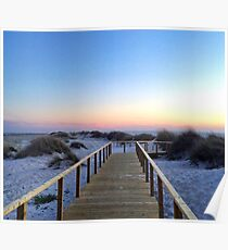 Portugal Praia at Sunset Poster