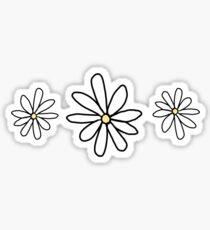 White Daisies w/ yellow Sticker