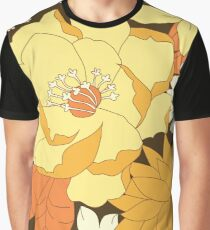Yellow, Orange and Brown Vintage Floral Pattern Graphic T-Shirt