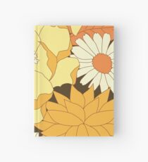 Yellow, Orange and Brown Vintage Floral Pattern Hardcover Journal