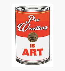 Pro Wrestling is (pop) Art - Colour Photographic Print