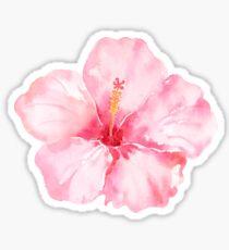 Pfirsich-rosa Hibiscus-tropische Blumen Sticker
