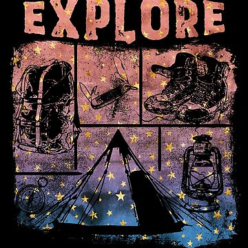 Explore Camping Watercolor Stars by MollySky