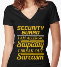 SECURITY GUARD Women's Fitted V-Neck T-Shirt