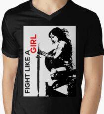 Fight Like A Girl Men's V-Neck T-Shirt