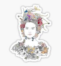 Floral Girl Sticker