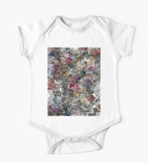 Floral Abstract One Piece - Short Sleeve