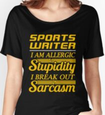 SPORTS WRITER Women's Relaxed Fit T-Shirt