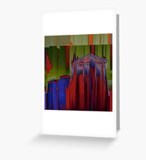 """Rationalized faith structures - study n.4 (or """"the red church"""") Greeting Card"""