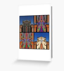 Rationalized faith structures - studies (5 to 8) Greeting Card