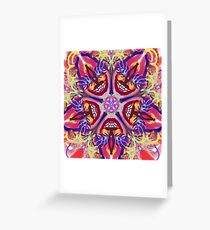 """Sacred Geometry """"Brazil"""" by Mar with Thleudron Greeting Card"""