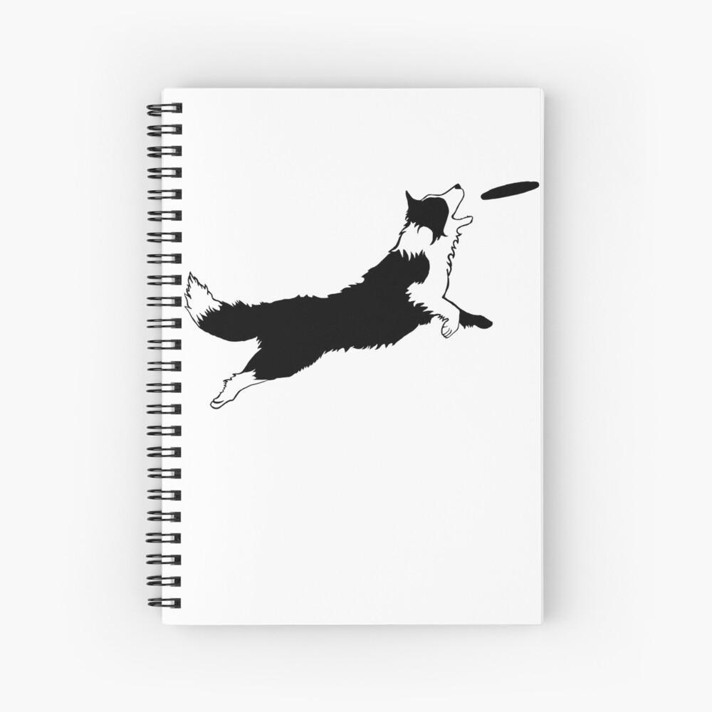 Dog Fetch Frisbee Border Collie Cuaderno de espiral