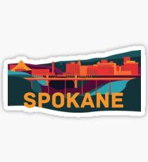 Abstract Spokane Cityscape Sticker