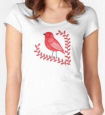 Red Bird Women's Fitted Scoop T-Shirt