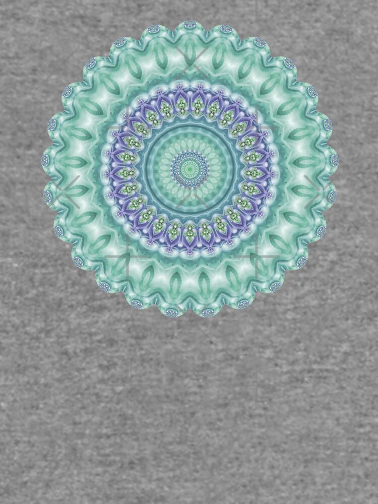 Bright Green and Purple Mandala of Balance by kellydietrich