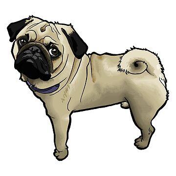 Standing Pug by binarygod