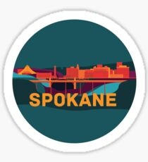 Abstract Spokane Sticker Sticker