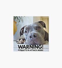 Cute Pitbull in Attack Mode Art Board