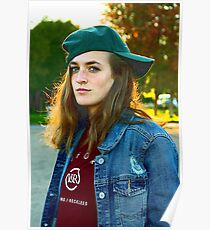 Girl in Green Hat Poster