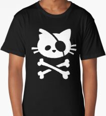 Pirate Cat: Skull and Crossbone Long T-Shirt