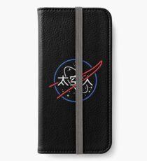 NASA Ästhetisches japanisches Neon-Logo iPhone Flip-Case/Hülle/Klebefolie