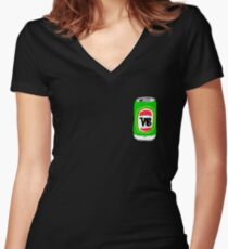 VeeBee Tinnie Women's Fitted V-Neck T-Shirt
