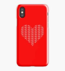 Bike Heart (Red-White) (Small) iPhone Case/Skin