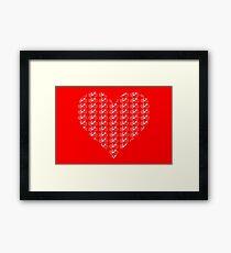 Bike Heart (Red-White) (Small) Framed Print