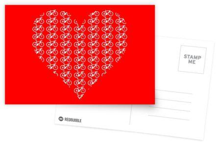 Bike Heart (Red-White) (Small) von sher00