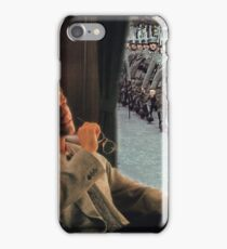 WATCHING WAR FLY BY. iPhone Case/Skin