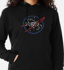 NASA Aesthetic Japanese Neon Logo  Lightweight Hoodie