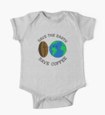 Save the Earth, Save Coffee One Piece - Short Sleeve