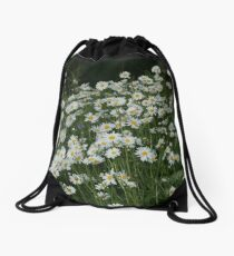 Fresh as a Daisy, Field of Daisies Drawstring Bag